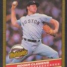Boston Red Sox Roger Clemens 1986 Donruss Highlights Baseball Card 5