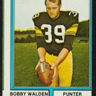 Pittsburgh Steelers Bobby Walden 1974 Topps Football Card 324 good smc