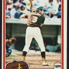 San Diego Padres Bill Fahey 1981 Topps Baseball Card 653 nr mt