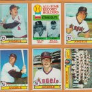 1979 Topps California Angels Team Lot 18 Nolan Ryan Brian Downing Joe Rudi Bobby Grich