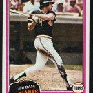San Francisco Giants Darrell Evans 1981 Topps Baseball Card 648 nr mt