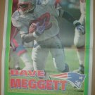 New England Patriots Dave Meggett 1995 Boston Herald Poster