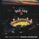 2015 Boston Red Sox Season Ticket Renewal Folio