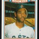 Boston Red Sox Ellis Burks 1987 Topps The Rookies Baseball Card 2