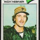 Pittsburgh Pirates Rich Hebner 1977 Topps Baseball Card 167 g/vg