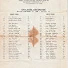 1986 Boston Bruins Intra-Squad Game Roster Sheet Ray Bourque Cam Neely Rick Middleton