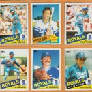 1985 Topps Kansas City Royals Team Lot George Brett Willie Wilson Hal McRae Dick Howser