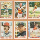 1982 Topps Houston Astros Team Lot 18 Don Sutton Jose Cruz Cesar Cedeno Joe Niekro Phil Garner