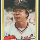 Minnesota Twins Mike Cubbage 1981 Topps Baseball Card 657 nr mt