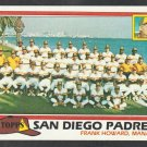San Diego Padres Team Card 1981 Topps Baseball Card 685 nr mt