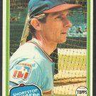Texas Rangers Bud Harrelson 1981 Topps Baseball Card 694 nr mt