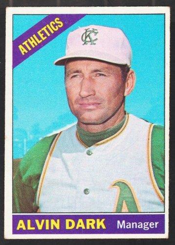 Kansas City Athletics Alvin Dark 1966 Topps Baseball Card 433 ex