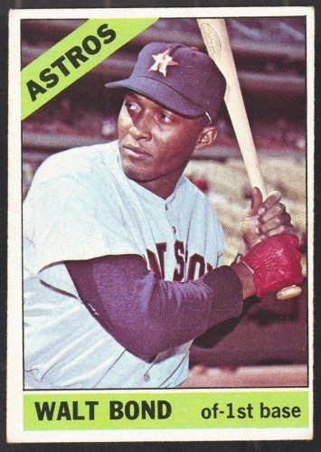 Houston Astros Walt Bond 1966 Topps Baseball Card 431 ex