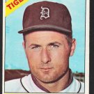 Detroit Tigers Bill Monbouquette 1966 Topps Baseball Card 429 vg/ex
