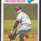 Texas Rangers Nelson Briles 1977 Topps Baseball Card 174 nr mt