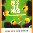 1985 NFL Schedule Pick the Pros Booklet National Football League