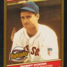 Boston Red Sox Bobb Doerr 1986 Donruss Highlights Baseball Card 32