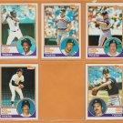1982-1984 Topps Detroit Tigers Team Lot Kirk Gibson Lance Parrish Alan Trammell Chet Lemon