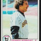 Milwaukee Brewers Eduardo Rodriguez 1979 Topps Baseball Card 108 nr mt