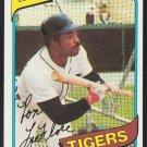 Detroit Tigers Ron LeFlore 1980 Topps Baseball Card 80 ex mt