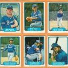 1982 Fleer Atlanta Braves Team Lot Phil Niekro Bob Horner Jerry Royster Glenn Hubbard