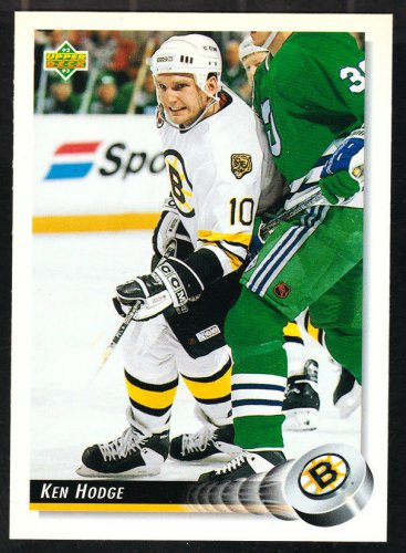 Boston Bruins Ken Hodge 1992 Upper Deck Hockey Card 254