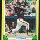 San Diego Padres Terry Kennedy 1982 Drakes Big Hitters Baseball Card 20 vg