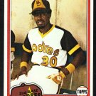 San Diego Padres Dave Cash 1981 Topps Baseball Card 707 nr mt
