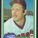 California Angels Joe Rudi 1981 Topps Baseball Card 701 nr mt