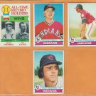 1979 Topps Cleveland Indians Team Lot Buddy Bell Andre Thornton Cy Young Rick Manning
