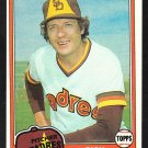 San Diego Padres Rick Wise 1981 Topps Baseball Card 616 nr mt