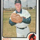 Boston Red Sox Marty Pattin 1973 Topps Baseball Card 415 em/nm