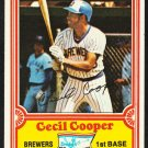 Milwaukee Brewers Cecil Cooper 1981 Drakes Big Hitters Baseball Card 16 em/nm
