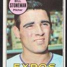 Montreal Expos Bill Stoneman 1969 Topps Baseball Card 67 vg/ex