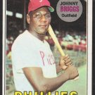 Philadelphia Phillies Johnny Briggs 1969 Topps Baseball Card 73 good