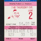 St Louis Cardinals Atlanta Braves 1983 Ticket Bob Horner Chris Chambliss HR Ozzie Smith