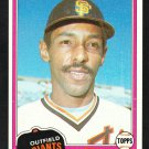 San Francisco Giants Bill North 1981 Topps Baseball Card 713 nr mt