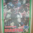 New England Patriots Curtis Martin 1995 Boston Herald Poster