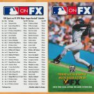 Houston Astros Jeff Bagwell 1997 Fox Sports Schedule