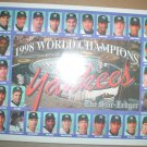 1998 New York Yankees World Champions Supplement Derek Jeter Mariano Rivera Joe Torre +