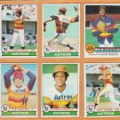 1979 Topps Houston Astros Team Lot 17 Jose Cruz JR Richard Joaquin Andujar Joe Niekro