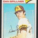 San Diego Padres Dan Spillner 1977 Topps Baseball Card 182 ex/em