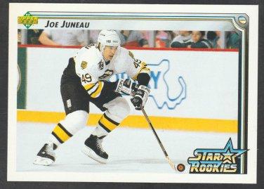Boston Bruins Joe Juneau Star Rookie 1992 Upper Deck Hockey Card 399