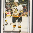 Boston Bruins Dave Poulin 1992 Topps Hockey Card 155