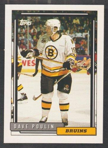 Boston Bruins Dave Poulin 1992 Topps Hockey Card 155