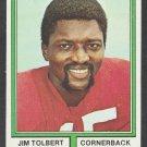 St Louis Cardinals Jim Tolbert 1974 Topps Football Card 344 vg/ex