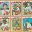 1980 Topps Los Angeles Dodgers Team Set 28 Steve Garvey Ron Cey Don Sutton Rick Sutcliffe RC