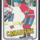 Montreal Canadiens Mark Napier 1981 Topps Hockey Card 23 nr mt