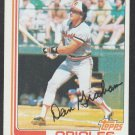 Baltimore Orioles Dan Graham 1982 Topps Baseball Card 37 nr mt