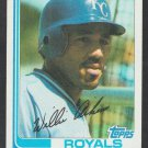 Kansas City Royals Willie Aikens 1982 Topps Baseball Card 35 nr mt